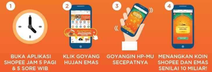 Mau Hadiah Emas Dari Shopee Ikuti Promo Goyang Hujan Emas First